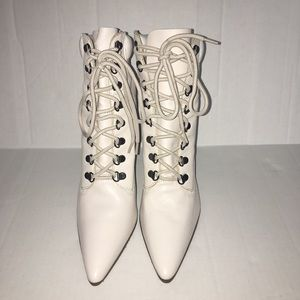 Colin Stuart Leather Lace Up Heeled Boots
